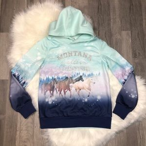 """H&M """"Montana Western Forever"""" Graphic Horse Hoodie"""